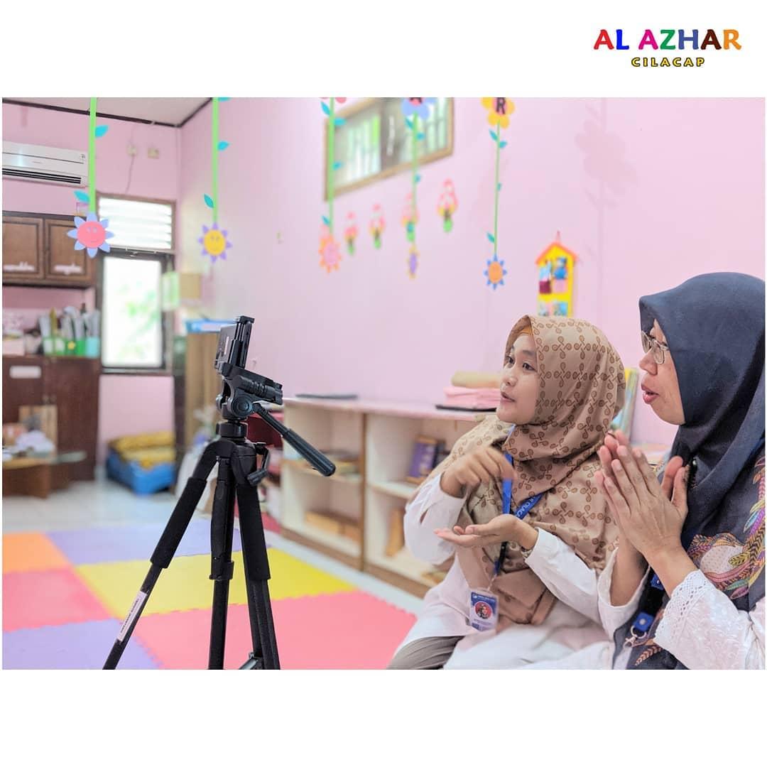 PJJ (Pembelajaran Jarak Jauh) di KB-TK Islam Al Azhar 16 ...